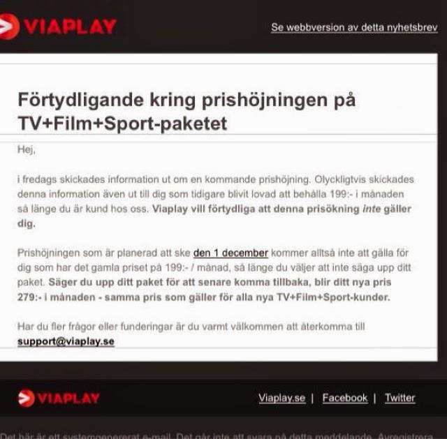 Allt Om Tv Iptv Triple Play Viaplay Höjer Priset På Tv Sport