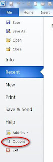 word 2010 how to show ruler