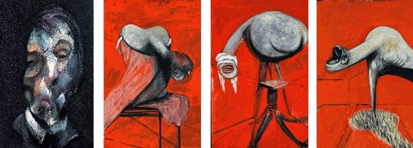 Francis Bacon's paintings.