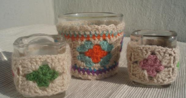 La ventana azul: 77.- Portavelas a crochet - photo#29