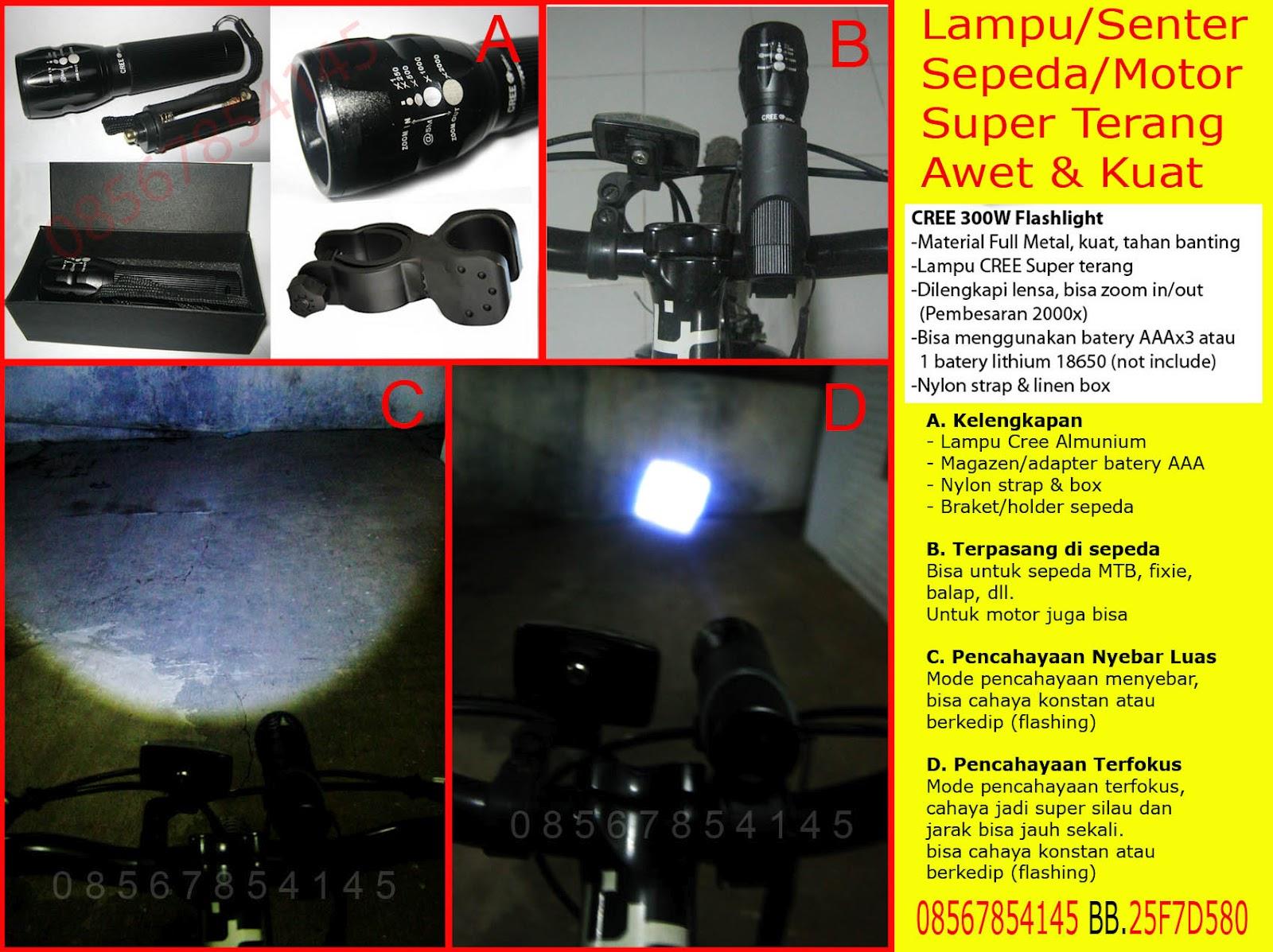 Senter Police Lampu Sepeda Stungun Pepper Spray