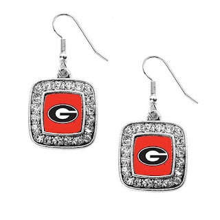 Show your support for your team with this classic styled earring set featuring the University of Georgia logo. The earrings measure 1 inch with a french hook backing. This item is made in the USA and is licensed by the university.