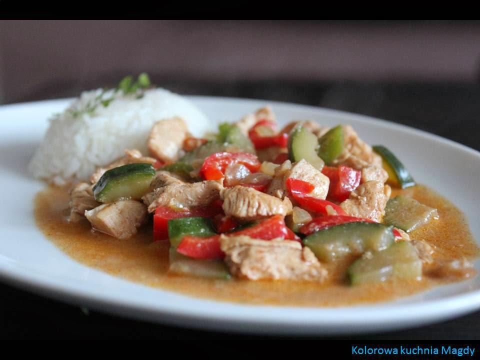 Kolorowa Kuchnia Magdy Dietetyczny Kurczak Z Papryka I Cukinia