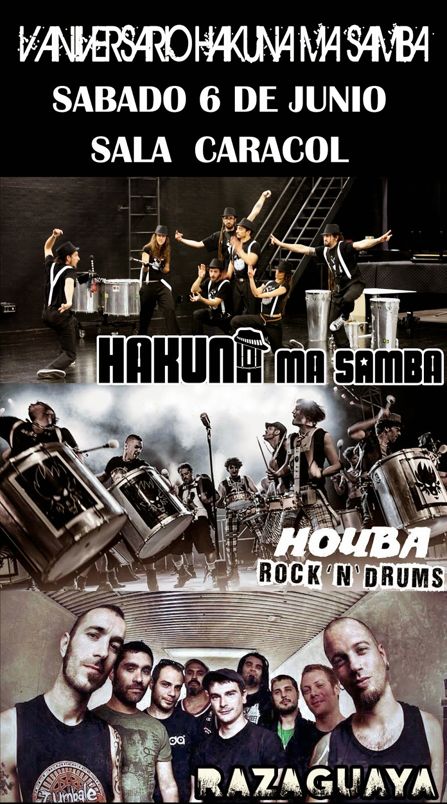 Hakuna Ma Samba - Raza Guaya - Houba Samba Rock en Madrid