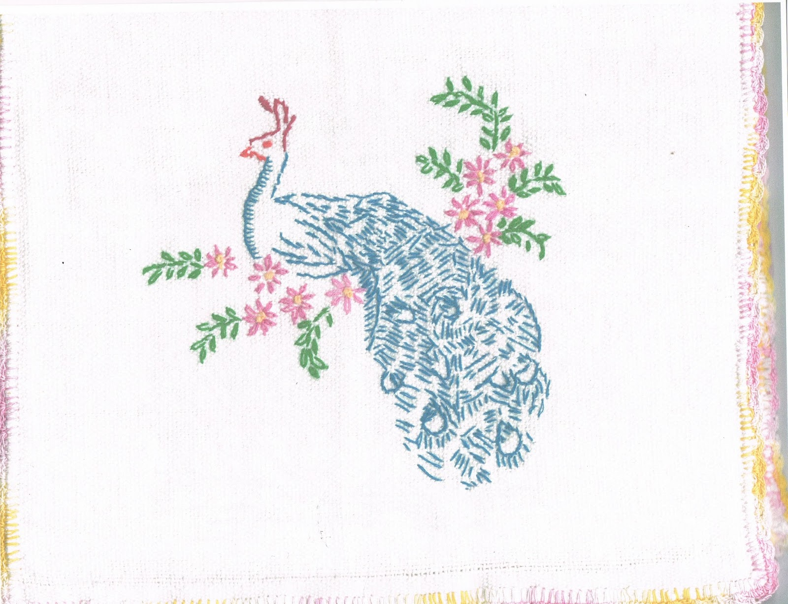 August 53 Peacock Hand Embroidery And TransferEze