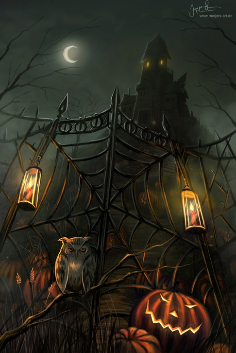 05-Halloween-Gate-Jeremiah-Morelli-Fantasy-Digital-Art-from-a-Middle-School-Teacher-www-designstack-co