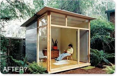 Relaxshacks.com: Shed plans for the MD100 Modern Shed/Guest House ...