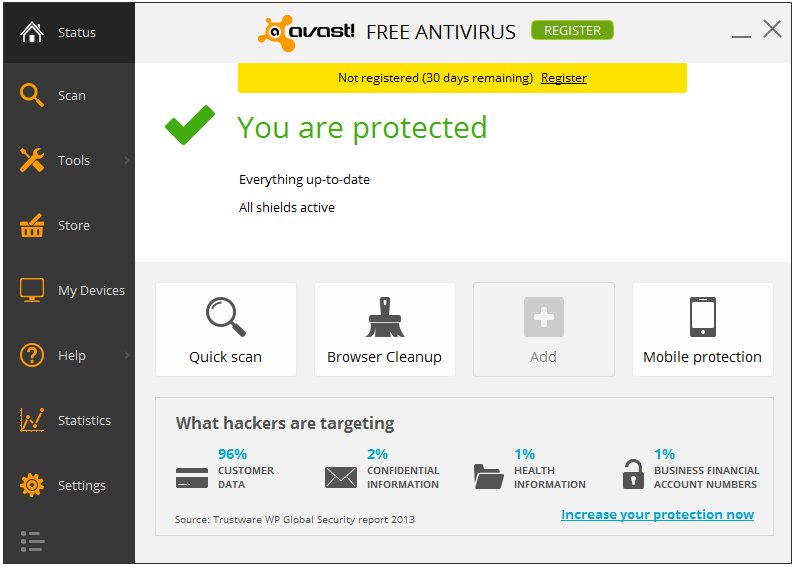 Avast! Free Antivirus Home Edition