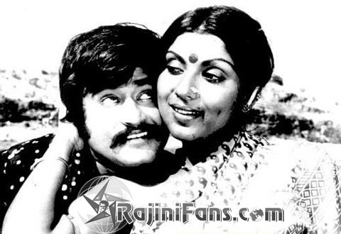 Rajinikanth & Sri Priya in 'Bhairavi' movie