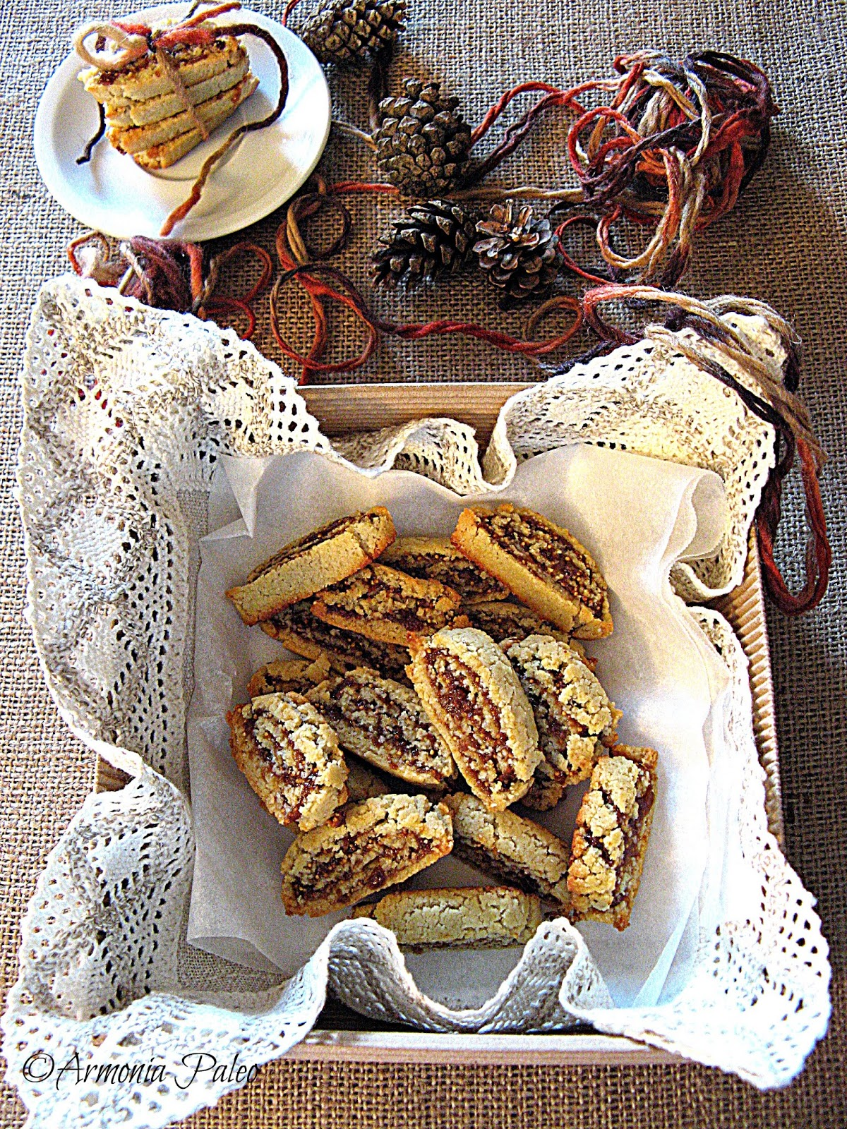 Biscotti con Cuore di Fichi Secchi di Armonia Paleo