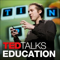 man speaking about ted talks education