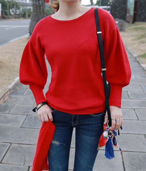 Fine Knit Dolman Sleeve Pullover