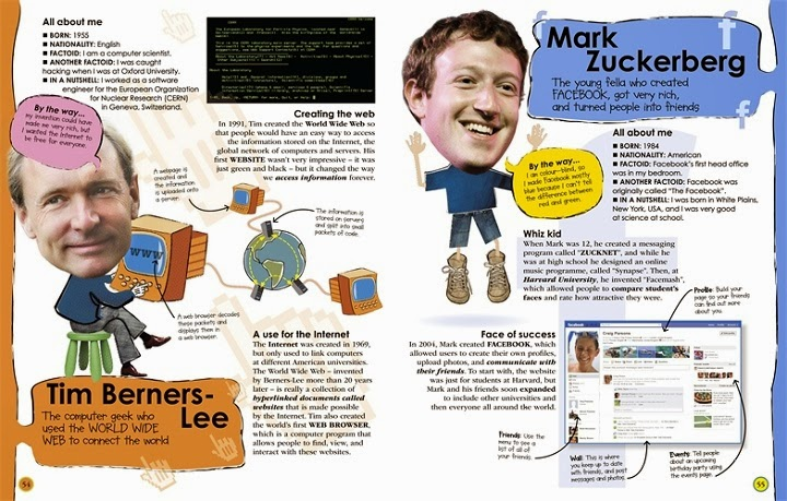 100 People Who Made History, Meet the People Who Shaped the Modern World, Ben Gilliland, Philip Parker, book, facts, random trivia, children's, non-fiction, DK Publishing, history, historical, inside pages, look, preview, Tim Berners Lee, Mark Zuckerberg, internet, Facebook, inventions