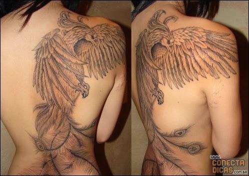Fenix - Tatuagens Femininas nas costas grandes