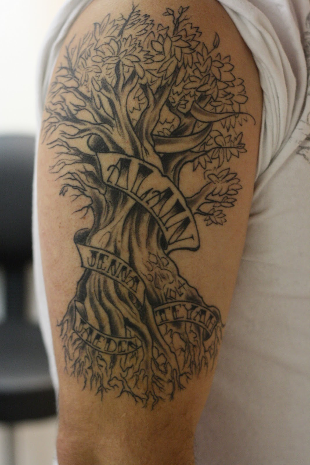 Corey Lyon Tattoos: Family tree