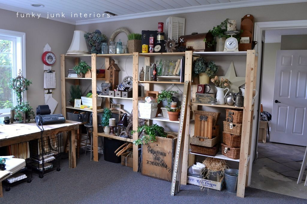 Organized junk storage in the housefunky junk interiors for Funky shelving ideas