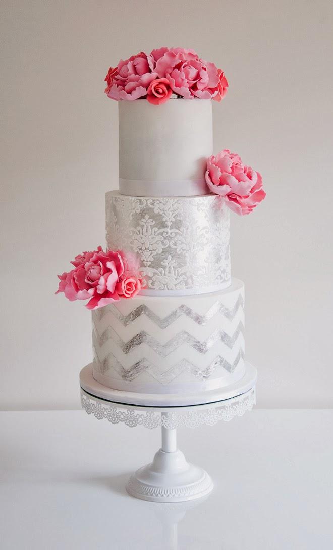 Wedding Trends Metallic Cakes The Wedding Blog