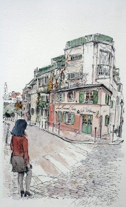 ... En musardant. Carnet de voyage, la Maison Rose Paris 18e