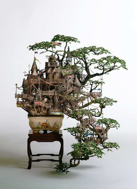 Takanori Aiba arquitectura en miniatura Bonsai Tree Houses Japan, Japon
