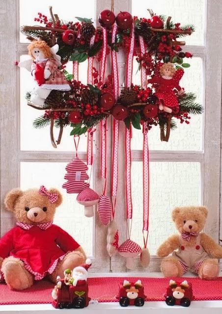 Decoracion de ventanas para navidad parte 1 - Arreglos navidenos para la casa ...