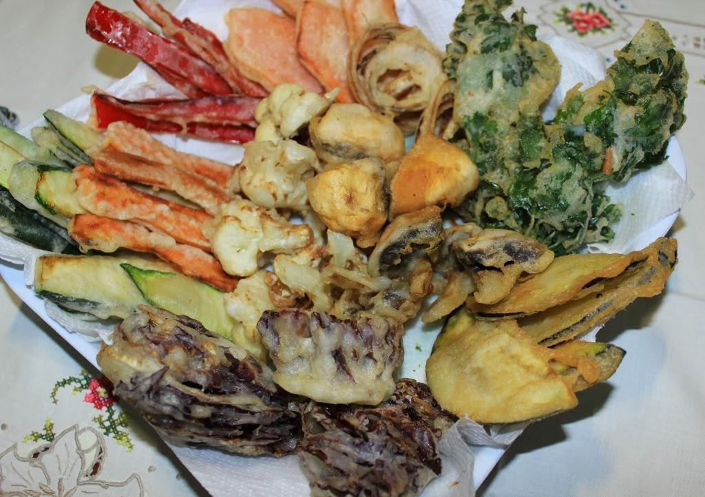 tempura di verdure con farina di riso