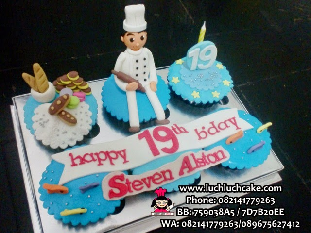Cupcake Tema Chef Daerah Surabaya - Sidoarjo
