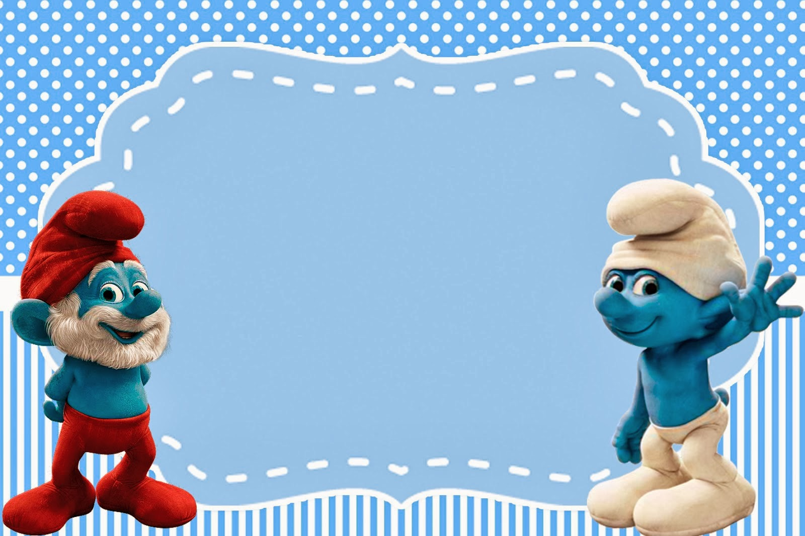 Smurfs Invitations And Party Free Printables For Boys Party
