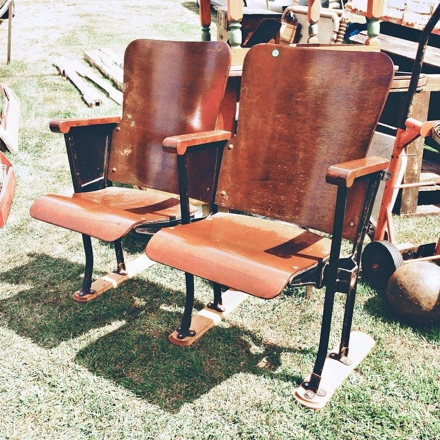 #thriftscorethursday Week 29 | Instagram user: brightgreendoor shows off this set of theater seats