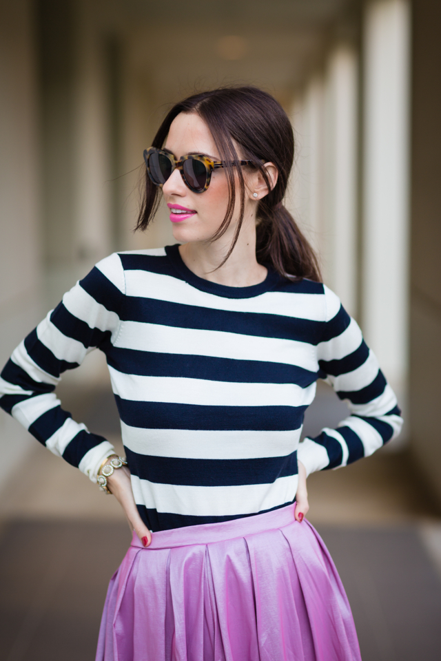 black and white striped top via M Loves M @marmar