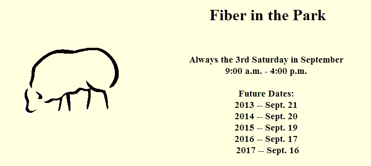 fiber in the park festival in La Salle Illinois