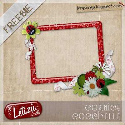 Coccinelle con freebie Cornice+coccinelle+freebie