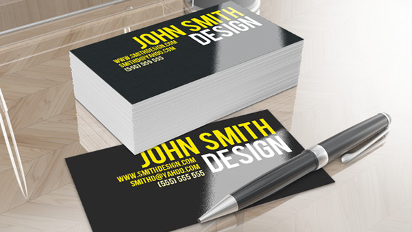 Dark shiny business card design and psd colourmoves