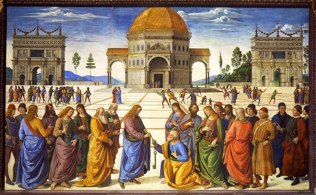 Entrega de las llaves a San Pedro del artista itlaiano Pietro Perugino