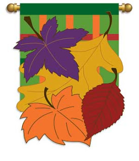 Autumn Leaves Double Applique Garden Flag