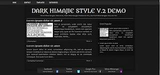 Dark Himajie Style v.2 SEO Blogspot HTML 5 Template