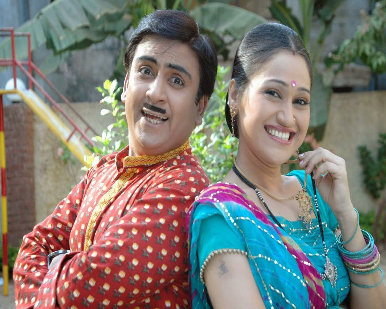 Tarak Maheta Ka Oolta Chasma TV Serial Jethalal And Daya Bhabhi HD Wallpaper