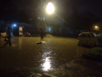 Water-logged roads in Noida