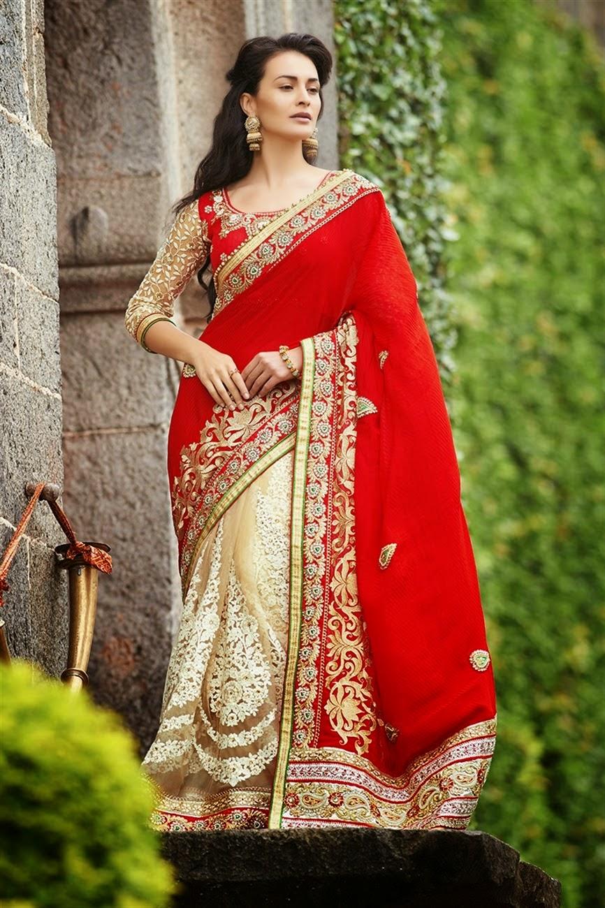 Bollywood Actress Saree Collections Embroidery Lehenga Sarre