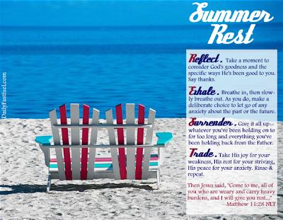 Daily Fast Fuel-Summer Rest (Matthew 11:28)