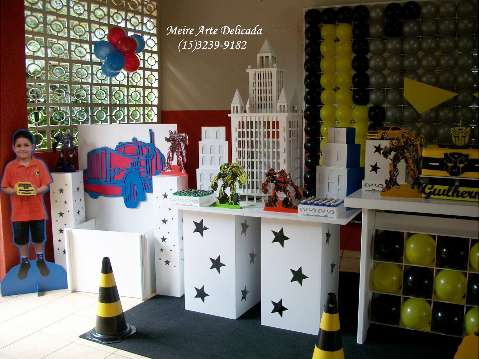 Decoração de festa Clean dos Transformers em Sorocaba  SP