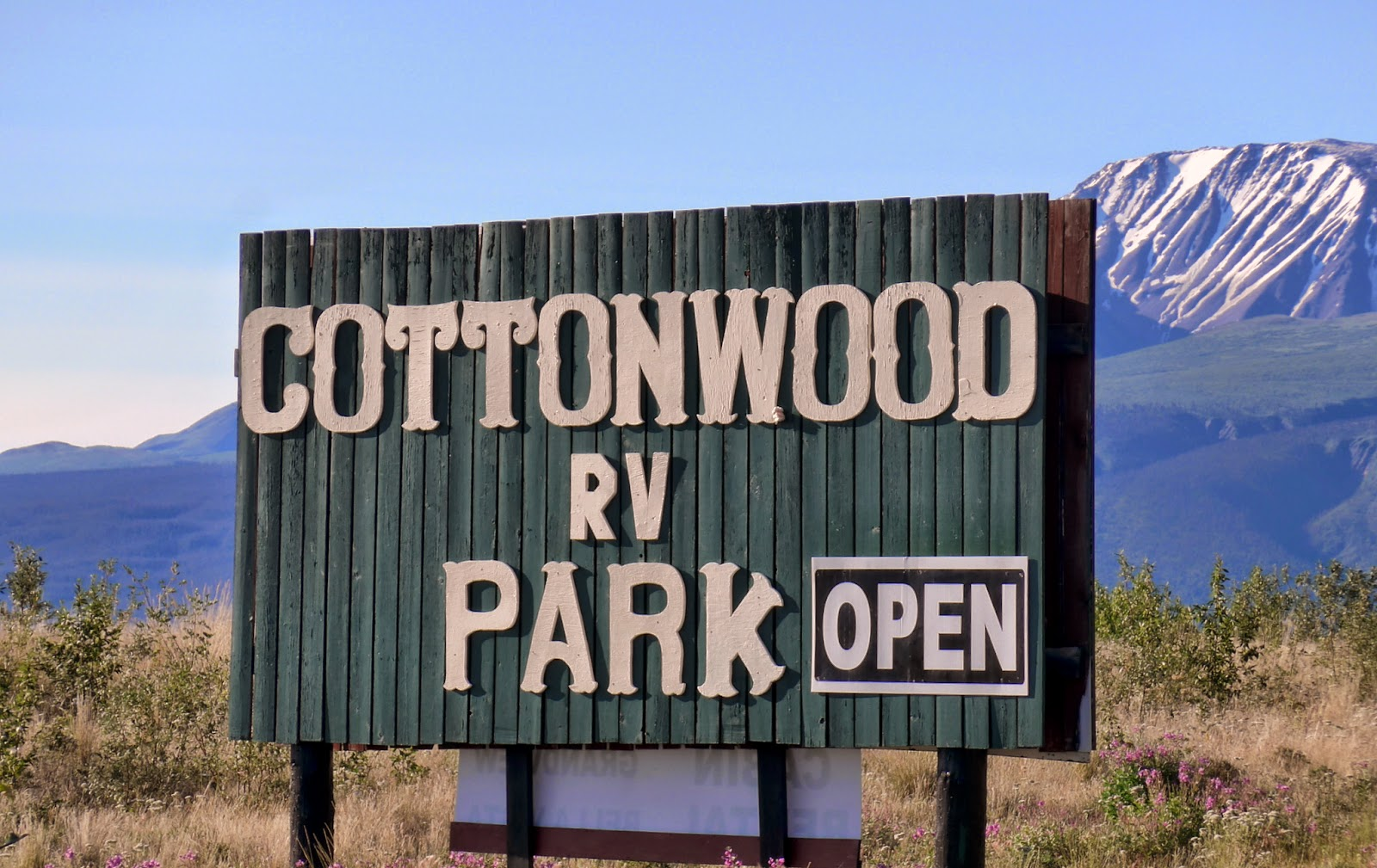 Cottonwood RV Park is great, one of the nicest spots on the trip.