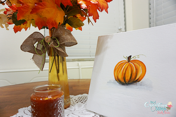 how to paint a pumpkin on canvas
