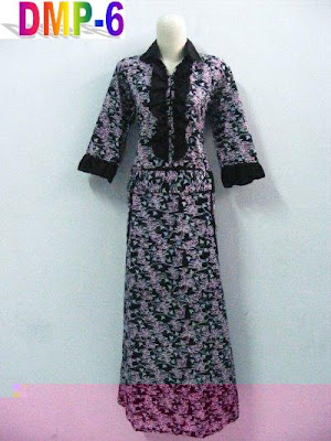 DRESS MODERN PANJANG MOTIF BATIK PEKALONGAN