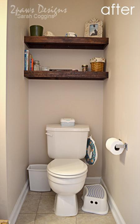 Small Half Bath Bathroom Shelves Ideas