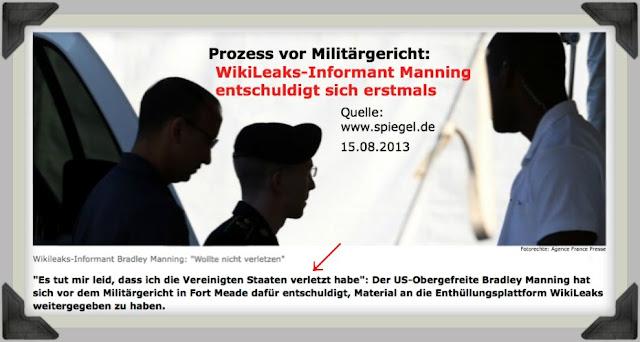 """Prozess vor Militärgericht: WikiLeaks-Informant Manning ...""""Es tut mir leid, dass ich die Vereinigten Staaten verletzt habe."""""""