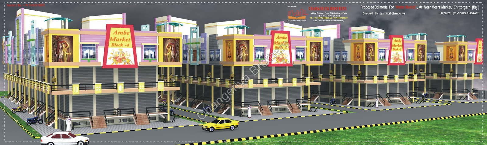 3d Naksha Ambe Market Multi Perpose Project