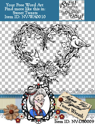 Tweet Wreath Digital Stamp