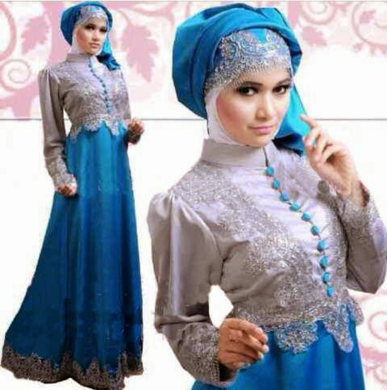Model Terbaru Baju Gamis Brokat Fashion Style 2015 Trend