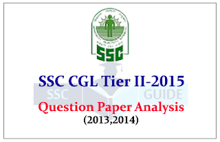SSC CGL Tier 2 Exam 2015 Previous Year Question Paper