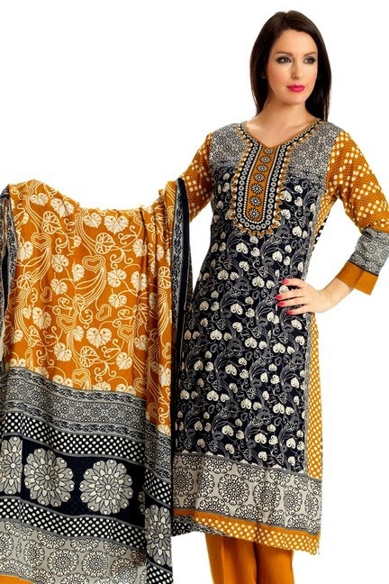 Pakistani Embroidered Trouser Kameez